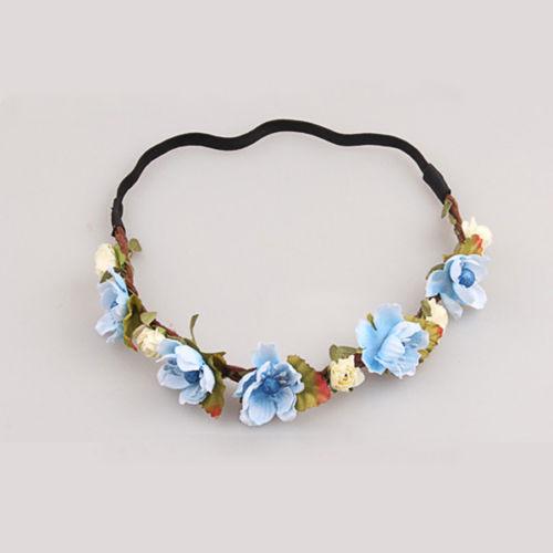 Elastická čelenka do vlasov s kvetmi-dve farby  82d1f8ed38