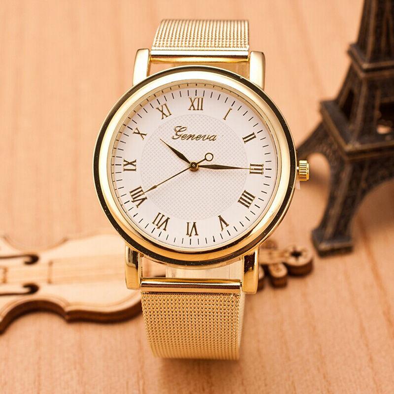 f3a524cd32 Dámske zlaté hodinky Geneva