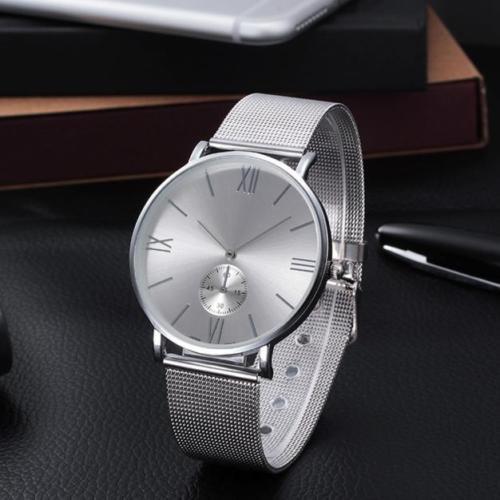 Dámske módne hodinky s kovovým remienkom strieborné  e02288f6e93