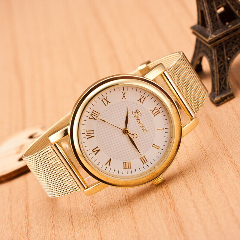 Dámske zlaté hodinky Geneva empty 768d951774a