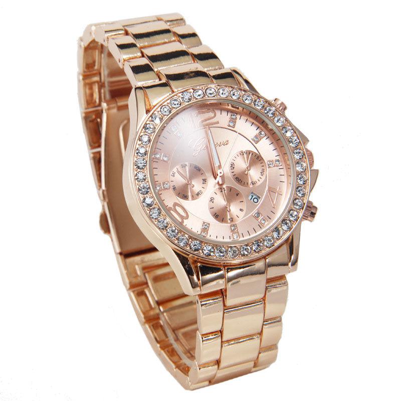 Dámske hodinky Geneva s krištáľmi - ružové zlato empty 9d73dab23e6
